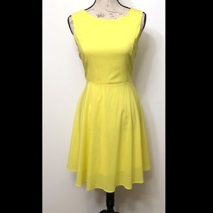 Zeagoo Flare, A line dress, Canary yellow, size M